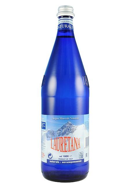 Минеральная вода LAURETANA NATURALE 1 литр негазированная (стекло)