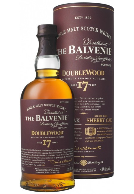 "Виски ""Balvenie"" Doublewood 17 Years Old, in tube, 0.7 л"