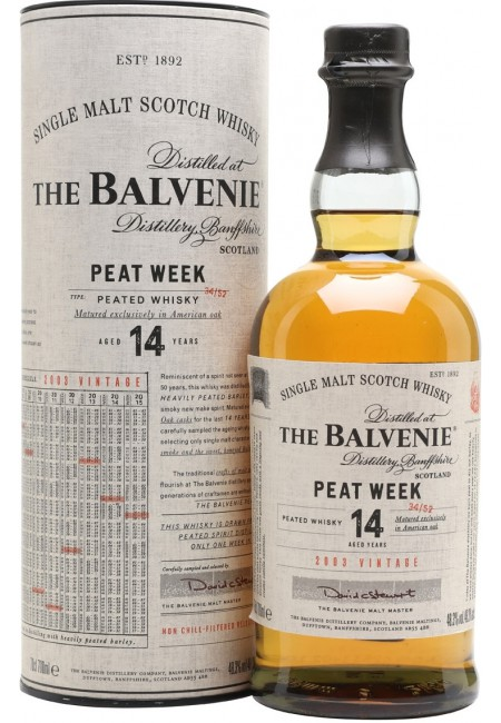 """Виски """"Balvenie"""" Peat Week 14 Years Old, in tube, 700 ml"""