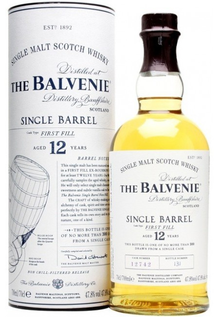 "Виски Balvenie ""Single Barrel"" First Fill, 12 Years Old, in tube, 0.7 л"