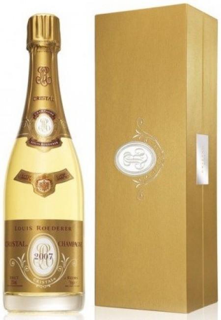 Шампанское Кристалл (Crystal), AOC, 2007, GIFT BOX