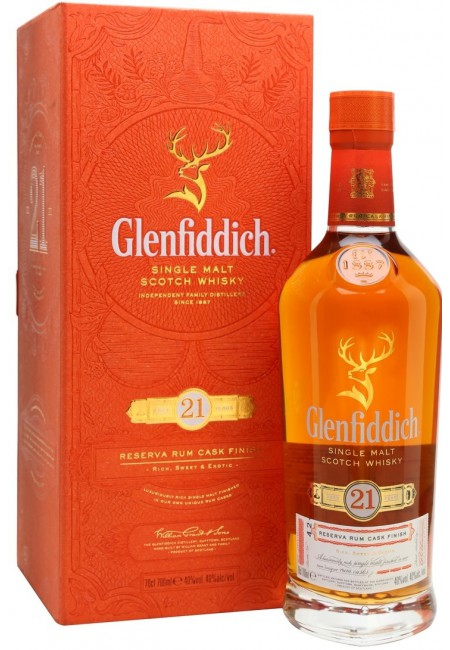 Виски Glenfiddich 21 Years Old, gift box, 0.75 л