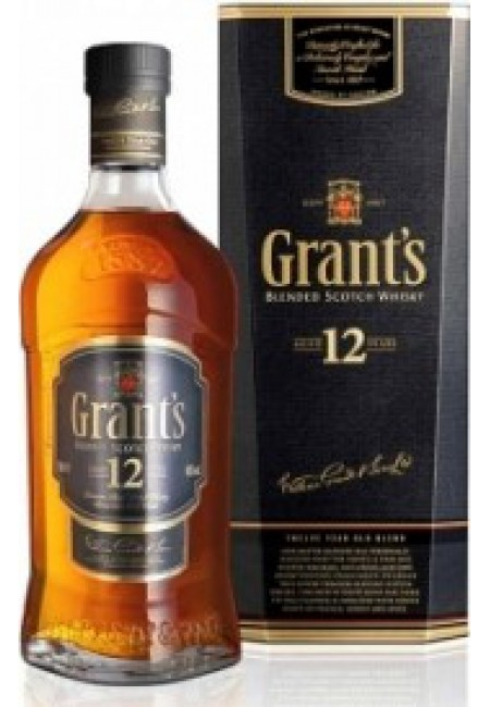 "Виски ""Grant`s"" 12 years old, gift box, 0.75 л"