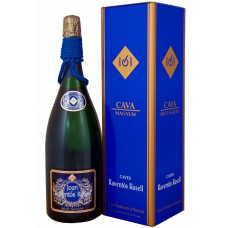Вино игристое Cava Raventos Rosell Brut Nature (Gift box) 1500 ml