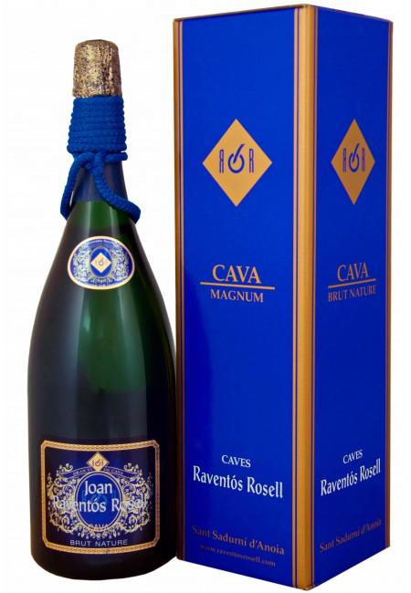 Вино игристое Cava Raventos Rosell Brut Nature (Gift box) 1500ml