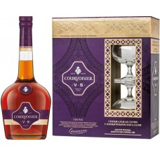 "Коньяк Коньяк ""Courvoisier"" VS, with 2-glasses box, 0.7 л"