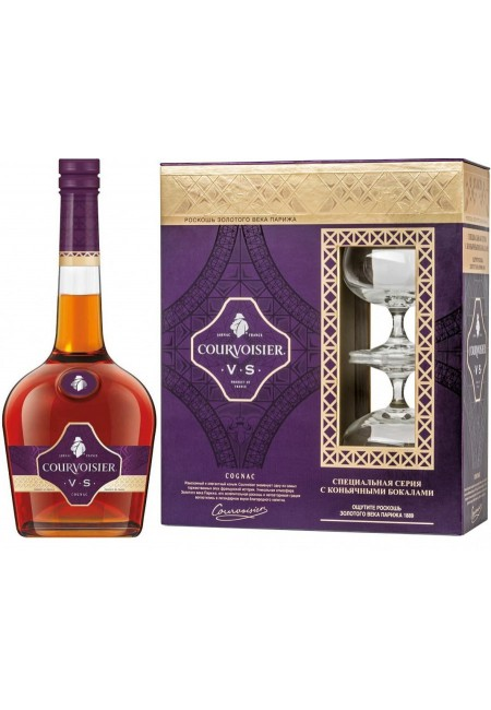 """Коньяк Коньяк """"Courvoisier"""" VS, with 2-glasses box, 0.7 л"""