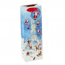 """Пакет подарочный под бутылку """" Новогоднее веселье"""""""