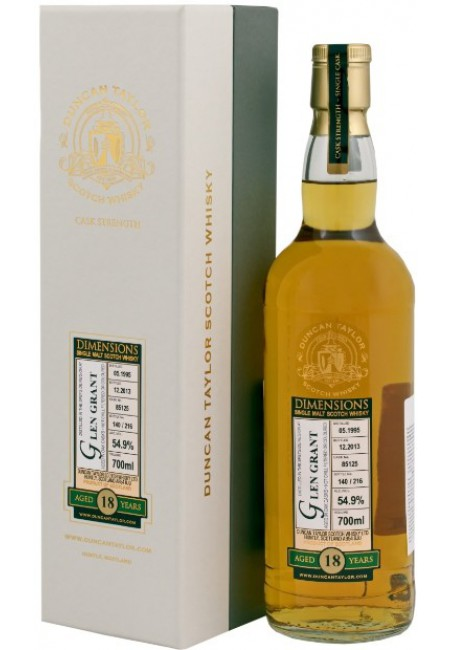"Виски ""Glen Grant"" 18 Years Old, ""Dimensions"", 1995, gift box, 700 мл"