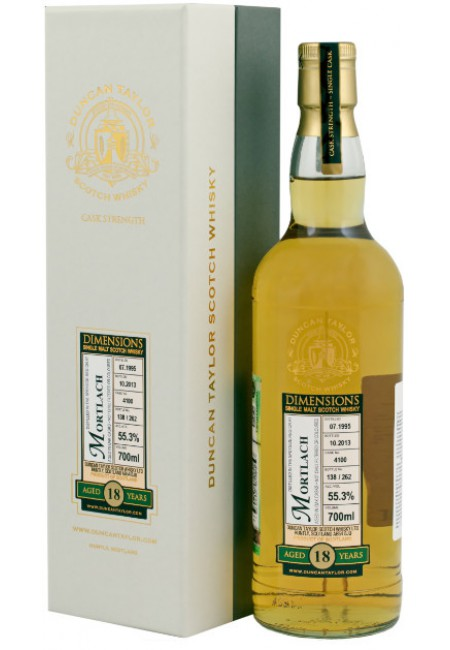 "Виски ""Mortlach"" 18 Years Old (55,3%), ""Dimensions"", 1995, gift box, 700 мл"