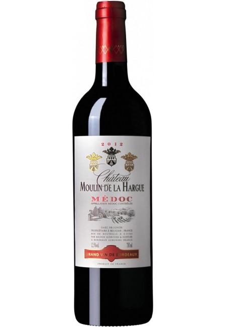 Вино Chateau Moulin De La Hargue, Medoc AOC, 2012