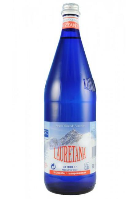 Минеральная вода LAURETANA FRIZZANTE 1 литр газированная (стекло)